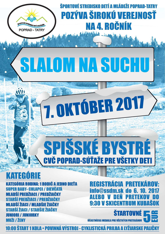 Slalom na suchu 2017 - plagát